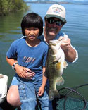 Young Fisherman Going fishing for the first time on Clear Lake